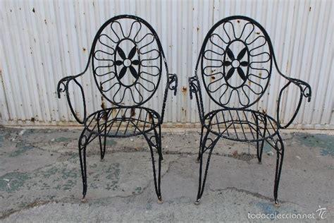 2 sillones sillas de jardin en hierro hueco pin - Comprar ...