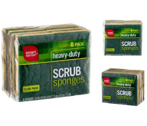 (2) Smart Sense Heavy-Duty Scrub Sponges - 8 PK GRATIS en ...