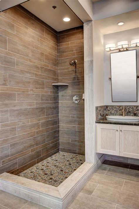20 Amazing Bathrooms With Wood Like Tile | Modern shower ...