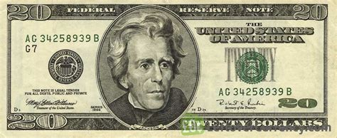 20 American Dollars series 1996   Exchange yours for cash ...