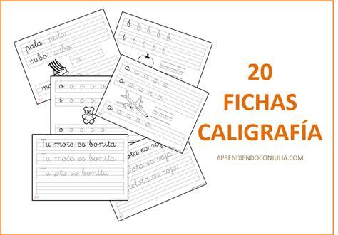 20 Fichas de caligrafía para imprimir   Aprendiendo con Julia