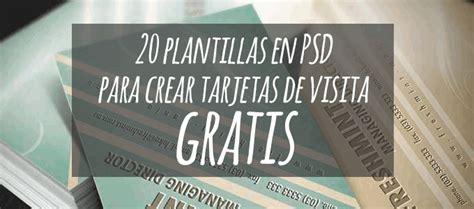20 plantillas en PSD para crear tarjetas de visita gratis