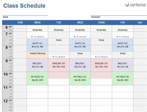20 plantillas gratis de horarios para el colegio en Excel ...