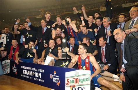 2003. La primera Copa de Europa de Baloncesto - FC Barcelona