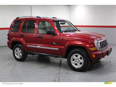 2005 Inferno Red Crystal Pearl Jeep Liberty CRD Limited ...