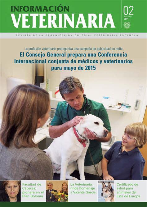 2014 02 informacion veterinaria abril 2014 by Colegio ...