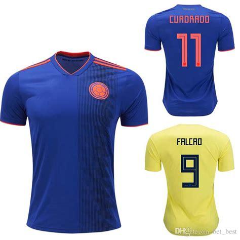 2014 world cup columbia 9 falcao home soccer shirt kit