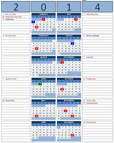 2014 Yearly Calendar Template Pictures to Pin on Pinterest ...