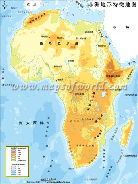 2014非洲地形图高清非洲地形图 地形图图片