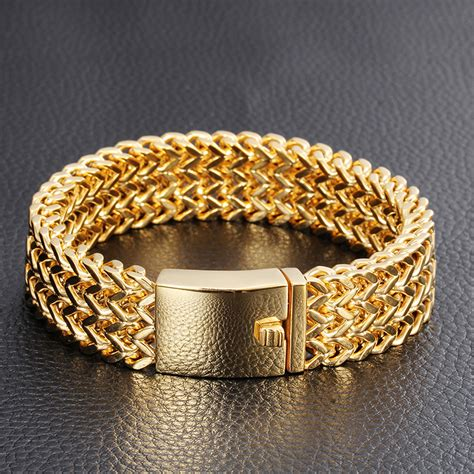 2016 New Brand Gold Bracelet Men Luxury Best Friends Men ...
