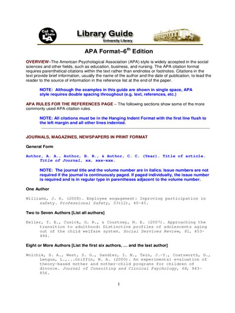 2018 APA Format Template - Fillable, Printable PDF & Forms ...
