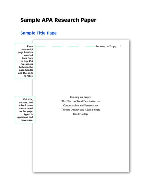 2018 APA Title Page - Fillable, Printable PDF & Forms ...