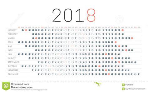 2018 Calendar With Moon Phases   Printable Calendar 2018