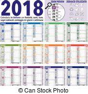 2018., calendario, luna. Fases, luna, days., lunar ...