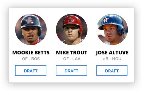 2018 Fantasy Baseball Mock Draft Simulator   EDSBaseball
