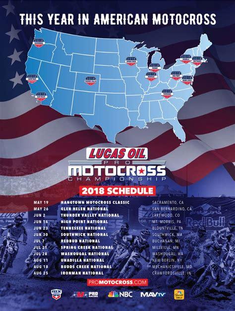 2018 Lucas Oil Pro Motocross Schedule | 12-Round Calendar