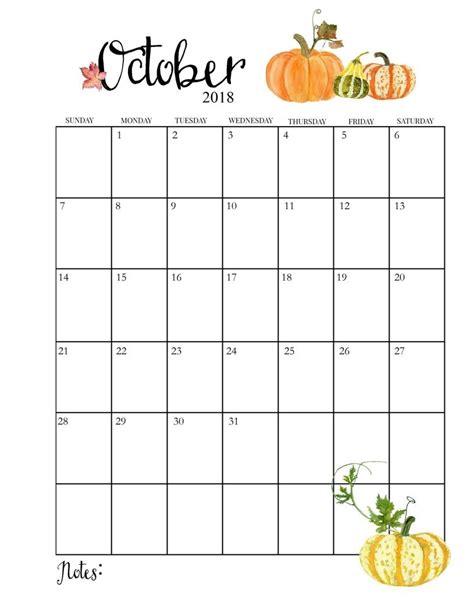 2018 Printable Monthly October Calendar | календарь ...