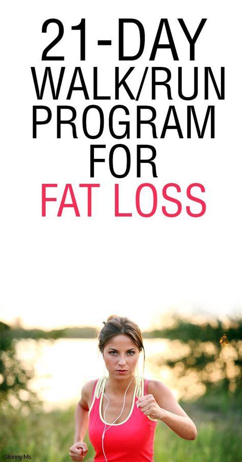 21-Day Run/Walk Program for Fat Loss | Running plan for ...