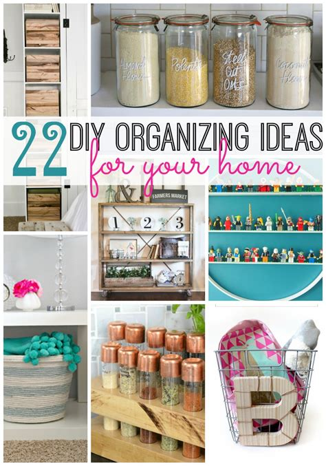 22 DIY Organizing Ideas For Your Home - Tatertots and Jello