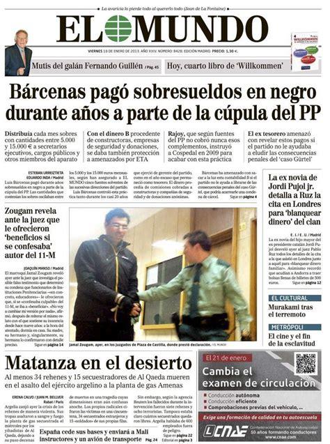 25 años de la Historia de España - Portada de EL MUNDO del ...