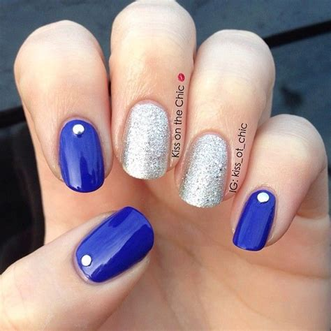 25+ best ideas about Blue and silver nails on Pinterest ...