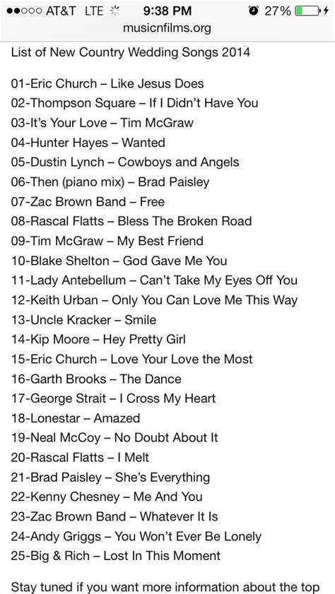 25+ Best Ideas about Country Wedding Songs on Pinterest ...