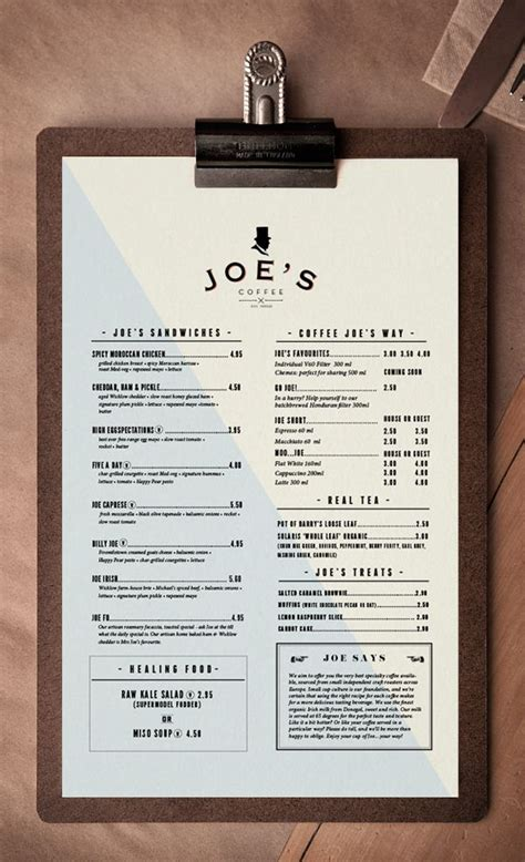25+ best ideas about Menu design on Pinterest | Menu ...