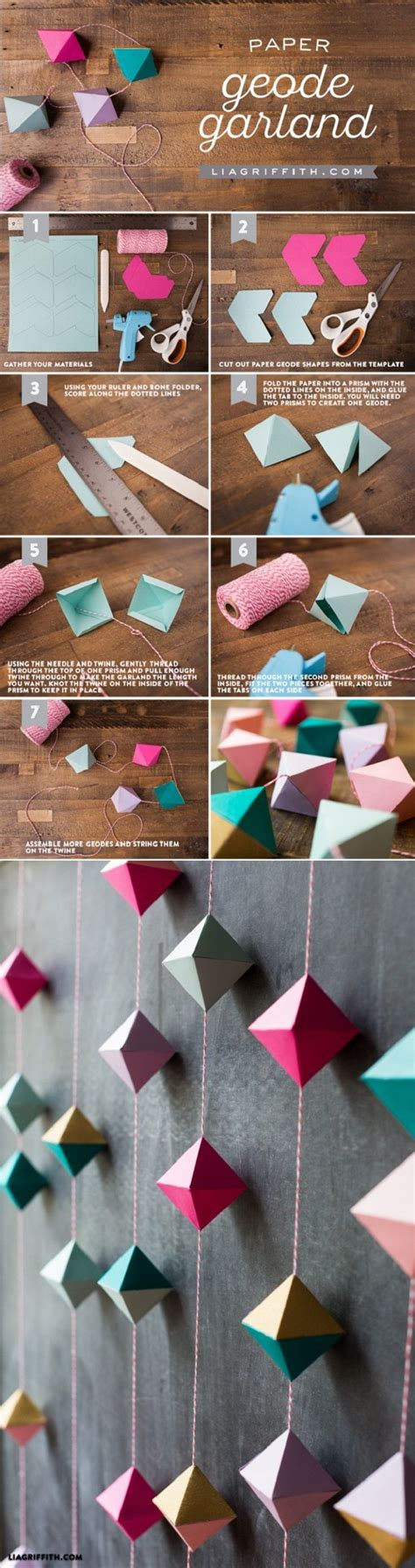 25+ best ideas about Paper Garlands on Pinterest | Party ...