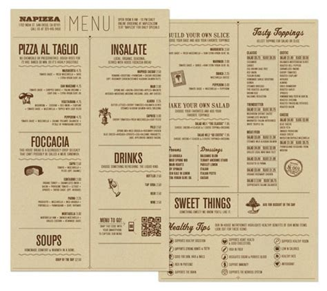 25 Inspiring Restaurant Menu Designs – Design Swan