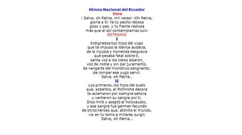 26 DE NOVIEMBRE : DÍA DEL HIMNO NACIONAL DEL ECUADOR - ppt ...