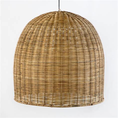 29897 Lámpara de techo de diseño vintage mimbre natural ...