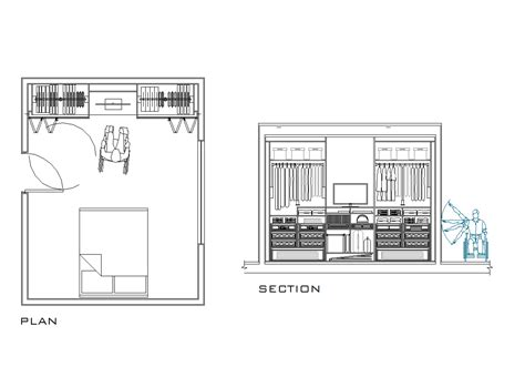 2D CAD Wardrobe Designed For Disabled People ...