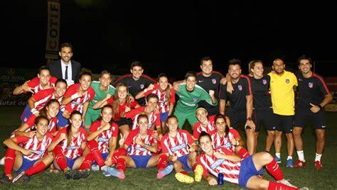 3-1. El Atleti Femenino conquista el COTIF ante el Valencia