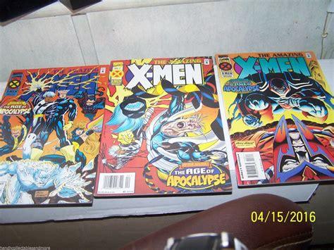 3 AMAZING x men COMICS # 1,2,3 age of apocalypse AFTER ...