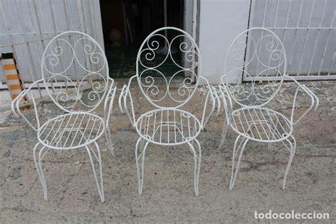 3 sillones sillas de jardin en hierro hueco pi - Comprar ...