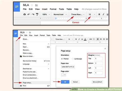 3 Ways to Create a Header in MLA Format - wikiHow