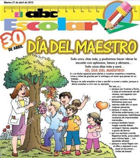 30 de abril se celebra en Paraguay el día del maestro ...