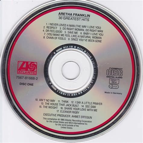 30 Greatest Hits (CD2) - Aretha Franklin mp3 buy, full ...