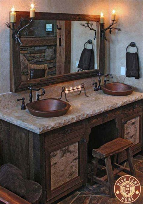 30 Inspiring Rustic Bathroom Ideas for Cozy Home   Amazing ...