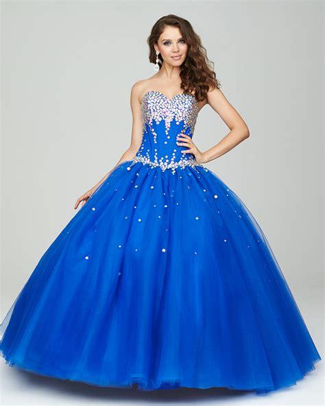 +30 vestidos de 15 años largos y cortos en color azul ...