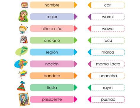 307 Palabras en Quechua / Kichwa y su significado al ...