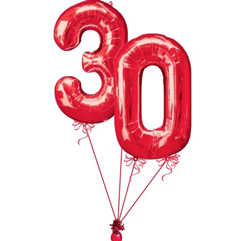 30th Birthday number balloon delivered helium filled 30th ...