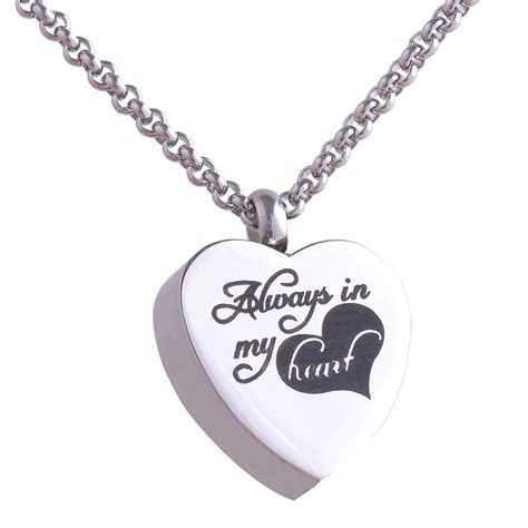 316L Stainless steel Heart cremation jewelry pendant ...