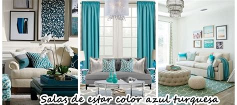 33 Decoraciones para salas de estar en color azul turquesa ...