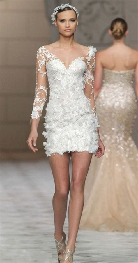 35 vestidos cortos de novia, elegantes, modernos y chic ...
