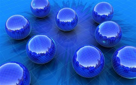 3D Blue Balls HD Wallpaper | HD Wallpapers