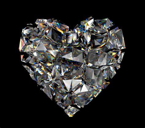 3d Broken Diamond Crystal Heart Stock Image   Image of ...