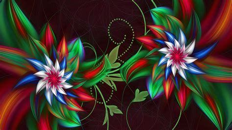 3d fleur fond d'écran