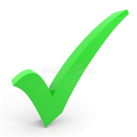 3D Green Checkmark. Royalty Free Stock Images - Image ...