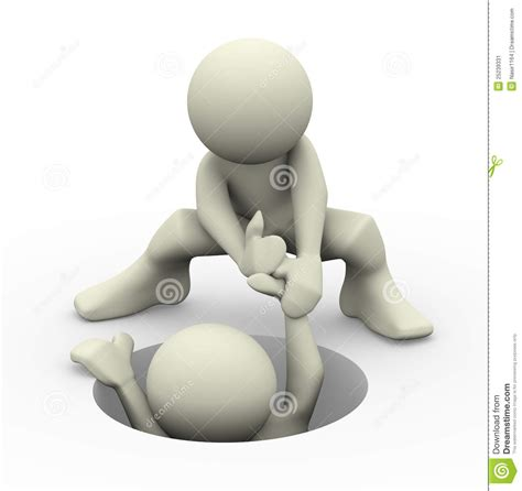 3d Helping Hand Stock Image - Image: 25239331